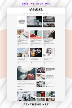 Amagaz is a modern WordPress Theme that lets you write articles and blog posts with ease. We offer great support and friendly help. This theme is excellent for a news, newspaper, magazine, or publishing site. Make your content more appealing, engaging and usable. Get Amagaz today and be setup in minutes! Custom Website Design, Blog Layout, Internet, Instagram Widget, Themes Themes, Wordpress Template, Article Writing, News Magazines, Best Wordpress Themes