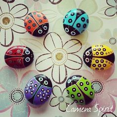 120 Likes, 16 Comments - Camena Spirit - Art &. - 120 Likes, 16 Pebble Painting, Dot Painting, Pebble Art, Stone Painting, Rock Painting Patterns, Rock Painting Ideas Easy, Rock Painting Designs, Stone Crafts, Rock Crafts