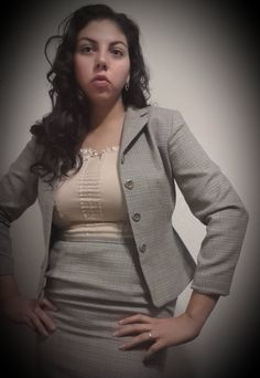 Sexy Vintage Tailor B Moss Feminine Suit for Woman Jacket & Mini Skirt 70s