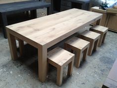 Pallet Furniture Tv Stand, Diy Furniture Easy, Diy Outdoor Furniture, Table Furniture, Dinning Room Tables, Wooden Dining Tables, Dining Table Design, Farmhouse Table, Inspiration