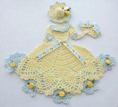Crinoline Lady Hand Crochet Doily