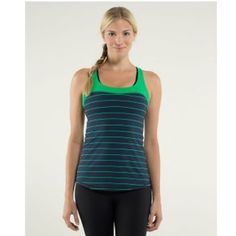 66cebab41e5 Shop Women's lululemon athletica size 4 Tank Tops at a discounted price at  Poshmark. Description: Stripped top, new with tag.
