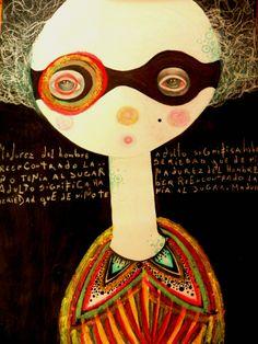 Marina Retamar: Tecnica mixta, tinta,lapiz,sobre papel, 20x30