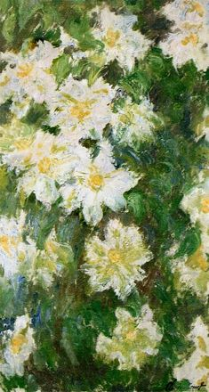 White Clematis | Claude Monet | 1887