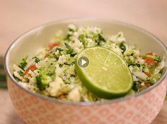 Raw food : Taboulé de chou-fleur et brocoli acidulé