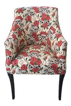 I'm kinda obsessed with skulls. http://www.rockettstgeorge.co.uk/skull--rose-tub-chair-3004-p.asp