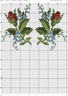 ru / Фото - 24 - kento - My site Beaded Cross Stitch, Cross Stitch Rose, Crochet Cross, Cross Stitch Flowers, Counted Cross Stitch Patterns, Cross Stitch Designs, Cross Stitch Embroidery, Beading Patterns, Flower Patterns