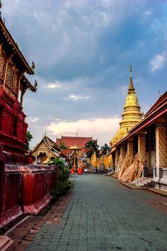 Haripoonchai Temple in Lamphun, Thailand.