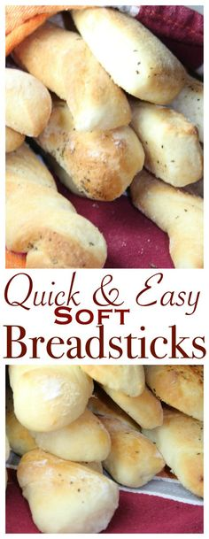 This recipe is not only easy, but makes the BEST breadsticks - SOFT and FLUFFY and quick to make!