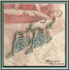Swarovski Aqua Green & Silver Chandelier by WrappedToPerfection, $24.00