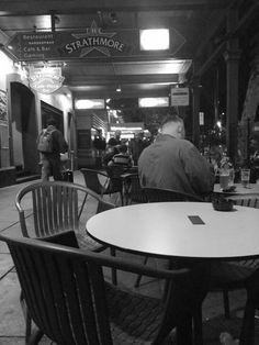 Late night hotel crowd.