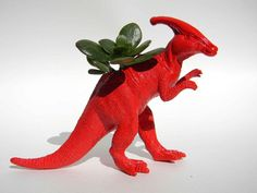 Dinosaur Theme Planter Great for Birthday Parties by crazycouture, $12.50