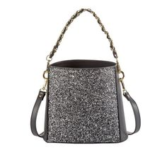 Funkelnder Begleiter für jeden Anlass: eine elegante Schultertasche mit Glitzereffekt von Cute Couture
