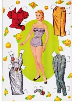 Miss Missy Paper Dolls: Tuesday Weld Paper Doll 2 Reuse Old Clothes, Paper Clothes, Clothes Crafts, Doll Clothes, Paper Dresses, Tuesday Weld, Missing Missy, Paper Art, Paper Crafts