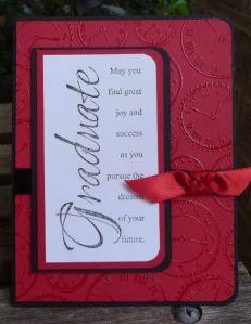 graduation card from Sharon