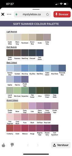Soft Summer Color Palette, Summer Colors, Autumn Inspiration, Fashion Inspiration, Basic Colors, Colours, Color Me Beautiful, Soft Autumn, Color Theory