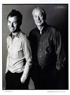 Michael Caine and Jude Law. that's so adorable!