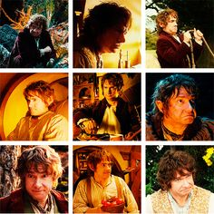 Bilbo Baggins! I love the top left, and the last two in the center line! And the bottom center!