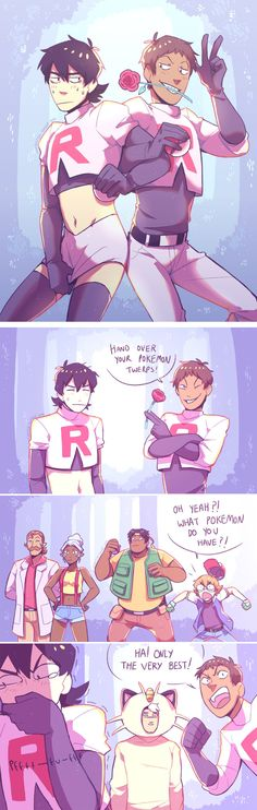 Prepare for trouble, and make it double! I needed Team Rocket Klance haha