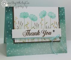 Blue Daisy Delight Thank You by amyk3868 - Cards and Paper Crafts at Splitcoaststampers
