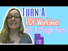 Turn a PDF worksheet into a Google Form - YouTube Teaching Technology, Educational Technology, Math Teacher, Teacher Resources, Form Creator, First Year Teaching, Instructional Coaching, Middle School Teachers, Blended Learning