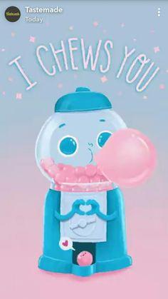 I chew you Funny Food Puns, Punny Puns, Cute Jokes, Food Humor, Food Jokes, Corny Jokes, Love Puns, Cute Love Memes, Funny Love