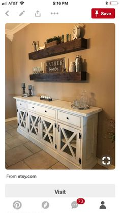 Diy home decor country rustic candle holders 31 Ideas Dining Room Shelves, Dining Room Bar, Buffet Table Ideas Decor Dining Rooms, My Living Room, Living Room Decor, Home Remodeling, Diy Home Decor, Kitchen Decor, Sweet Home