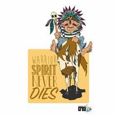 www.creale.es estudio diseño design art diseño, ilustración, paint, draw, horse, indian, warrior guerrero never dies