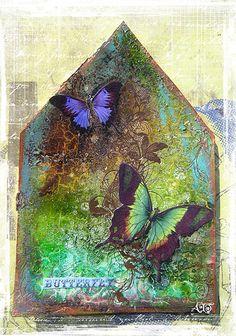 Dans ma maison il y a un papillon | by Anne, Bulles dorées