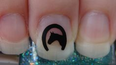 HORSESHOE with HORSE HEAD Nail Art Decals Set of by TrinityNails, $1.99