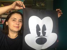 Capa para almofada Mickey p&b