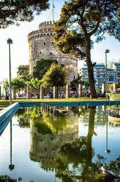 White Tower of Thessaloniki, Macedonia, Greece Macedonia Travel Destinations Beautiful Places In The World, Places Around The World, Around The Worlds, Macedonia Greece, Greece Thessaloniki, Places To Travel, Places To Visit, Travel Destinations, Ancient Greece
