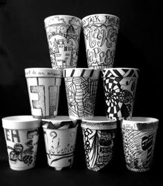 The Lost Sock Blog - Sharpie and coffee cups
