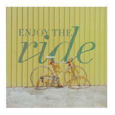 """Enjoy The Ride"" Wall Art. #shopko #bestroomever2016"
