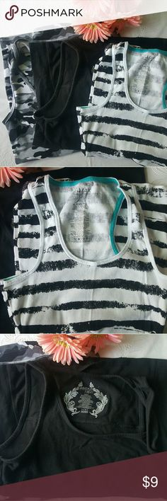 Lot of 3 tank tops Lot of 3 tank tops - Ocean Pacific- Miley - Danskin size Large on the Danskin black tank and juniors xl on the other 2. No stains - great condition. Danskin Tops