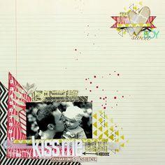 Matériel utilisé disponible chez Scrapfuté : Papiers MME skys limit et up away - Tampons MME - Tampons Aly Edwards - Posh Kesi'art triangle - Chalk fluid edger lime pie - Dies : die'namic alphabet, metalliks coeurs et leaves www.scrapfute.com