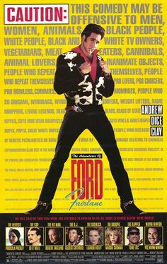 The Adventures of Ford Fairlane. Watchable comedy movie dire ted by Renny Harlin. Andrew Dice Clay in Ford Fairlane.