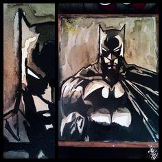 Batman Coffee painting (2012) Caotime