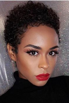 New Short Natural Curly Hairstyles for Black Women