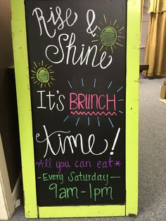 Chalkboard brunch sign Mimosa Brunch, Wedding Morning, Chalkboard Signs, All You Can, Marketing Ideas, Event Ideas, Party Planning, Renaissance, About Me Blog