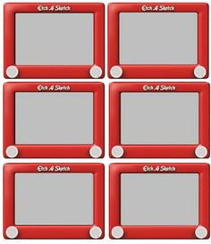 Etch Sketch Name Tags FREE PRINTABLE....*Rook No. 17: recipes, crafts & whimsies for spreading joy*: Scrap sheets, clipart and graphics for you to download for FREE!