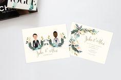 Golden Blush Wedding Invitation Suite /// Couples Portrait /// Family Portrait /// Printable Wedding Invites /// DIY Wedding Invites by heartandfox on Etsy https://www.etsy.com/listing/235053723/golden-blush-wedding-invitation-suite