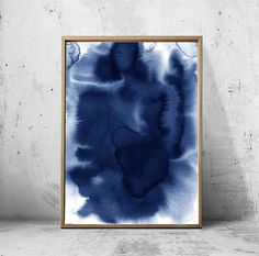 Contemporary blue and white abstract watercolor prints set. Includes six digital prints. Abstract Watercolor / Set of 6 Prints / Minimalist art / Abstract art Prints / Blue White / Modern art / Modern Wall art / Contemporary art / Minimal Watercolor Hello, we are White Orchid