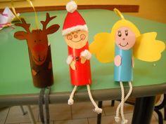 lavoretti di Natale Renna,angelo e babbo natale con rotoli