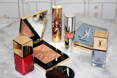 I love YSL Summer makeup collections & so I'm pleased to share here! Check out YSL Summer Look 2019 Luxuriant Haven. I have photos and swatches. Makeup Primer, Makeup Kit, Makeup Lipstick, Ysl Beauty, Luxury Beauty, Ysl Cosmetics, Makeup 2018, Flat Lay Photography, Makeup Designs