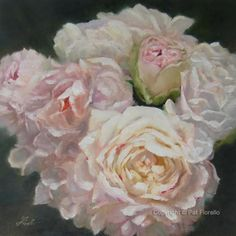 Stunning painting by Pat Fiorello (Bridal bouquet!)