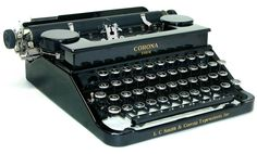 This 1934 Smith Corona is similar to the one Chris Hardwick bribed Hanks with
