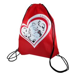 Print Drawstring Backpack Yoga Gym Bag Shoes Bag Pouches Case I Love Shuz Collection