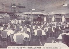 Durow's German Restaurant  Myrtle Avenue  Glendale, New York. (German-American)