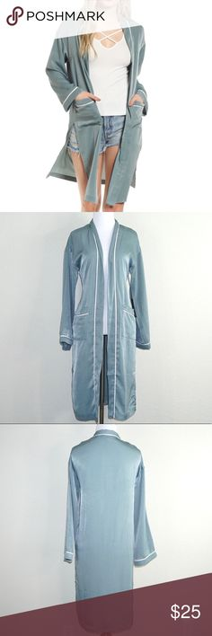 "Chloe & Katie Satin Duster Robe Trendy satin robe that layers perfectly over a casual look!   ▪️ Condition: New with tags!  ▪️ Length 39"" ▪️ 100% Polyester ▪️ Add to Bundle for private discount & $4.99 shipping!  B01 chloe & katie Tops"